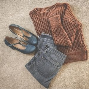 Boohoo chunky knit cropped sweater